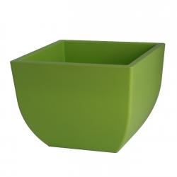 """Muna"" square plant pot - 30 cm - light green"