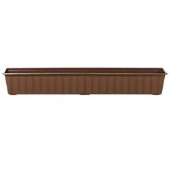 """Agro"" outdoor planter - brown - 100 cm"