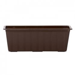 Rectangular, outdoor flower pot - Agro - 50 cm - Brown