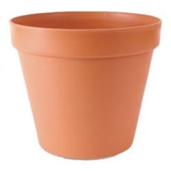 """Glinka"" simple plant pot ø 22 cm - terracotta-coloured"