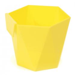 Модуларни биљни лонац - Хеца - 12,5 цм - Жута -