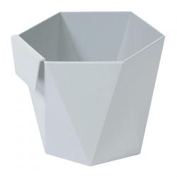 """""""Хеца"""" модуларно кућиште за посуде за биљке - 10,5 цм - светлосиво -"""