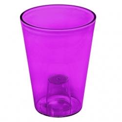 Maceta redonda, alta - Lilia - 12,5 cm - Púrpura transparente -