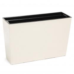 """""""Werbena"""" puķu kaste / stādītājs - 19 x 56 cm - krēmīgi balta -"""