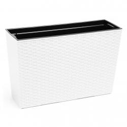"""""""Werbena"""" puķu kaste / stādītājs - 19 x 56 cm - balta rotangpalma -"""