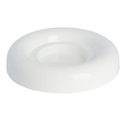 Putaran putih 18-cm Ikebana mangkuk -