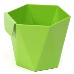 """Модуларно кућиште за лонац """"Хеца"""" за биљке - 10,5 цм - светло зелене боје -"""