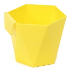 """Модуларно кућиште за посуђе """"Хеца"""" - 10,5 цм - жуто -"""