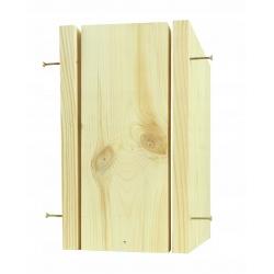Nist- und Baumsperling-Nistkasten - rohes Holz - selbstorganisiertes Vogelhaus -