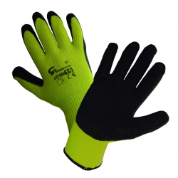 Insulated latex-coated gloves - yellow - size 10