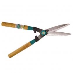 مقص التحوط ذو الشفرة المموجة بمقابض خشبية -