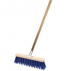 Street broom - for pavements and driveways - 30 cm + 130 cm handle
