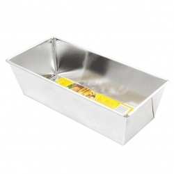 Waffled baking tin, loaf pan - 25 x 11 cm - for baking pates, fruit cakes and bread