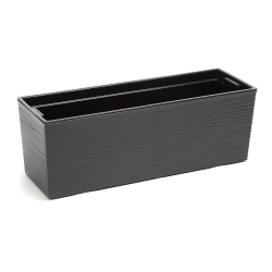 """Conjunto de balcón """"Begonia"""" - 19 x 56 cm - cincelado, gris grafito metálico -"""