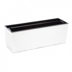 "Conjunto de balcón ""Begonia"" - 19 x 56 cm - cincelado, blanco -"