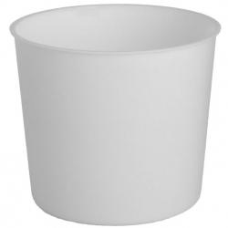 Kerek edénybetét - 20 cm-es edényekhez - fehér -