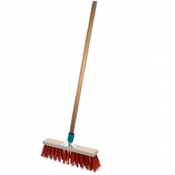 Broad street broom - for pavements and driveways - 50 cm + 130 cm handle