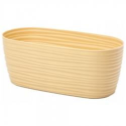 "غلاف وعاء نباتات ""صحارى بيتي"" - 27 × 13 سم - شاي بالحليب -"