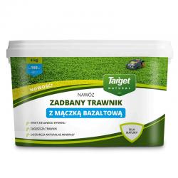 Fertilizante granulado con polvo de basalto volcánico - Césped bien recortado - Objetivo - 4 kg -