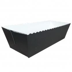 """Easy Bake"" rectangular paper baking mould - 20.3 x 7.6 x 6.2 cm - black-and-white"