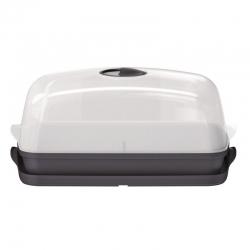 Polükarbonaadist kuppelkattega minikasvuhoone, paljundaja - Respana Table Greenhouse Plus - antratsiithall -