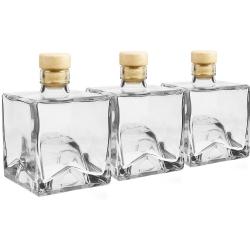 Botellas de licor, sirope, jugo - apilables - Bruno - 250 ml - 3 piezas -