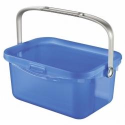 """Ведро универсальное с ручкой """"Multiboxx"""" - 3 литра - прозрачное синее. -"""