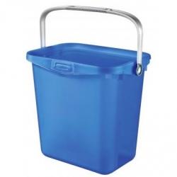 """Ведро универсальное с ручкой """"Multiboxx"""" - 6 литров - прозрачное синее. -"""
