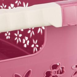 Эргономичная корзина для белья с мягкими ручками - Лассе - ягода -