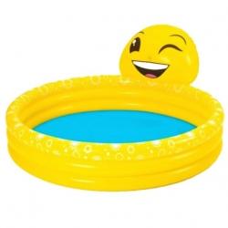 Felfújható gyermekmedence - Emoji Smile - 165 x 144 x 69 cm -