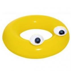 Ujumisrõngas, basseini ujuk - suured silmad - kollased - 91 cm -