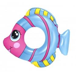 Prsten za plivanje, plutajući bazen - riba - plava - 81 x 76 cm -