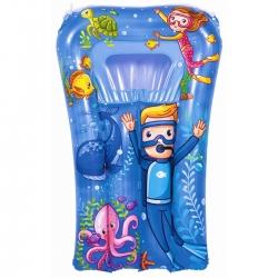 Felfújható úszómedence gyerekeknek - tengeri grafika - kék - 74 x 48 cm -