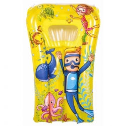 Dječji plutajući bazen na napuhavanje - morska grafika - žuta - 74 x 48 cm -