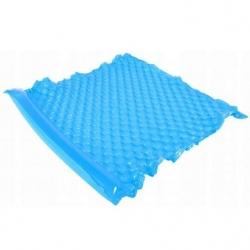 Felfújható medence úszó, matrac - kék - 218 x 183 cm -