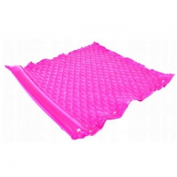 Felfújható medence úszó, matrac - rózsaszín - 218 x 183 cm -
