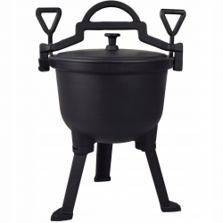 Campfire cast iron Dutch oven with legs - Made in Poland - SPIRIT OF THE BIALOWIEZA PRIMEVAL FOREST - 4L