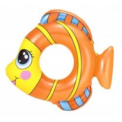 Plivački prsten, plutajući bazen - riba - narančasta - 81 x 76 cm -