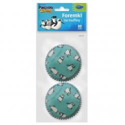 """Penguins of Madagascar"" muffin moulds - 80 pcs"