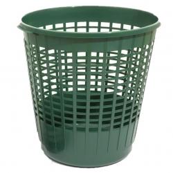 Vrtna košara, košara za travo, listje, sadje in drugo - Kletka - 60 l - gozdna zelena -