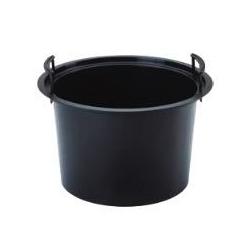 Kerek edénybetét - 30 cm-es edényekhez - fekete -