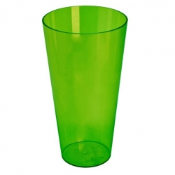 "Tall ""Vulcano Tube"" pot casing - 15 cm - transparent green"