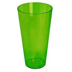 """Vysoký plášť hrnca s vložkou """"Vulcano Tube"""" - 15 cm - priehľadná zelená vložka čučoriedkovo-zmrzlinovej farby -"""