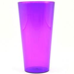 """Augsta katla apvalks ar ieliktni """"Vulcano Tube"""" - 15 cm - caurspīdīgs violets + balts ieliktnis -"""