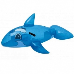 Inflatable pool float - Blue orca - 157 x 94 cm