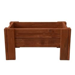 Wooden rectangular plant pot - 60 cm x 34 cm - brown