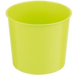 """Carcasa de maceta alta con inserto """"Vulcano Tube"""" - 15 cm - transparente + inserto verde pistacho -"""