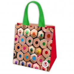 Чанта за хранителни стоки - пастели - 34 х 34 х 22 см -