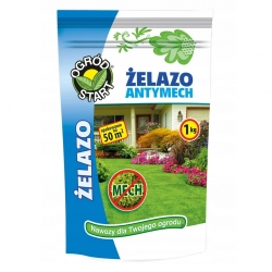 Antimoss af jern - den mest effektive gødning til mosinficerede græsplæner - Ogród-Start - 1 kg -