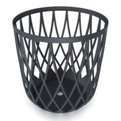 Multi-purpose bin - seat UNIQUBO - 55 litres - anthracite grey